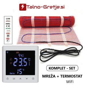 Električno talno gretje komplet mreža in wifi termostat