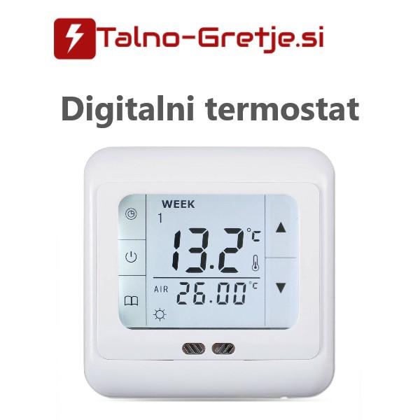 Termostat za električno talno gretje digitalni