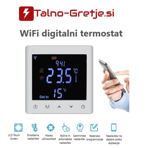 termostat za električno talno gretje-ogrevanje Wifi