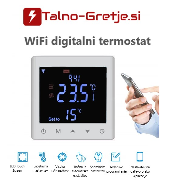 termostat za talno gretje-ogrevanje Wifi
