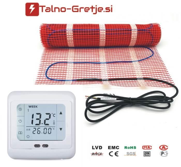 Električno talno gretje komplet set in termostat-02 Talno-gretje.si