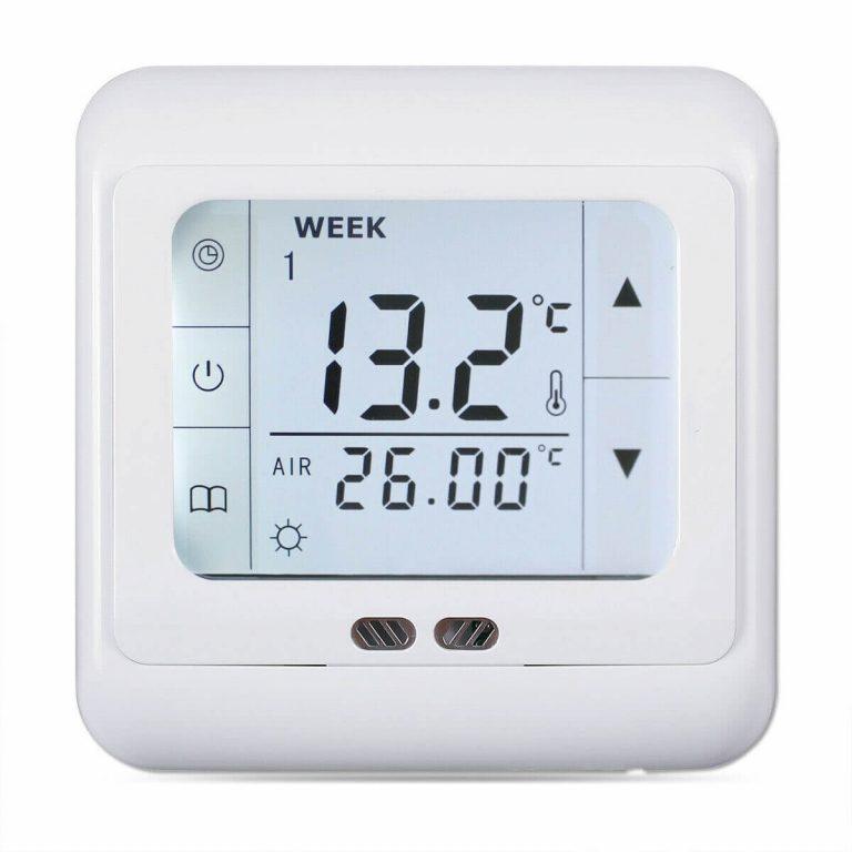 Termostat za talno gretje - ogrevanje Digitalni touch screen + talni senzor vključen