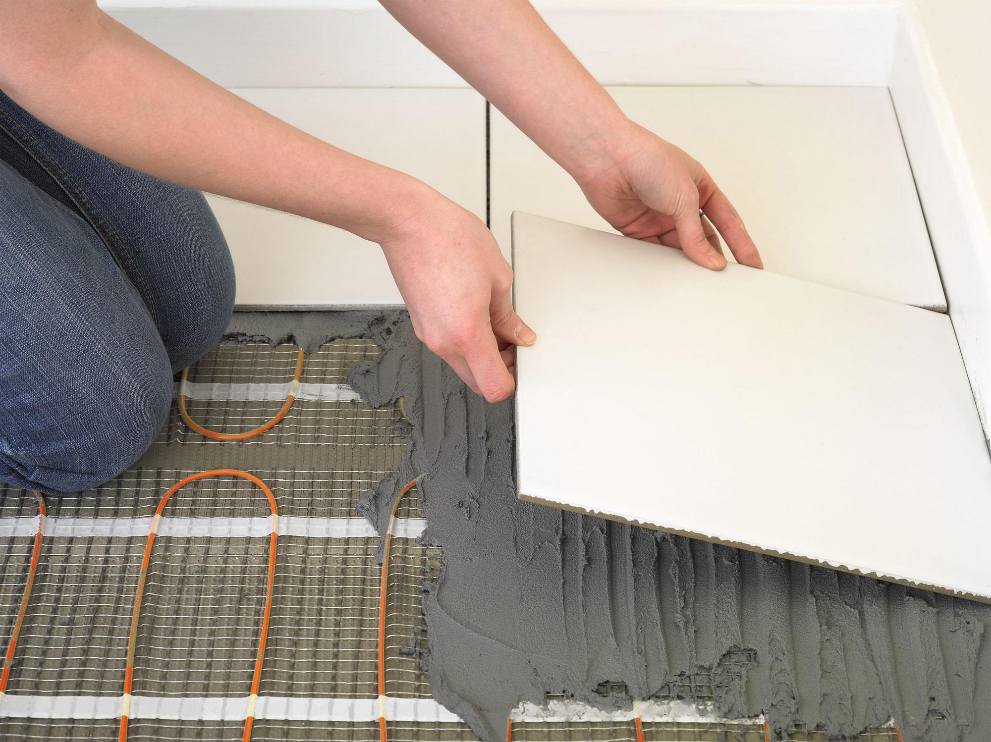 Polaganje - električno talno gretje montaža